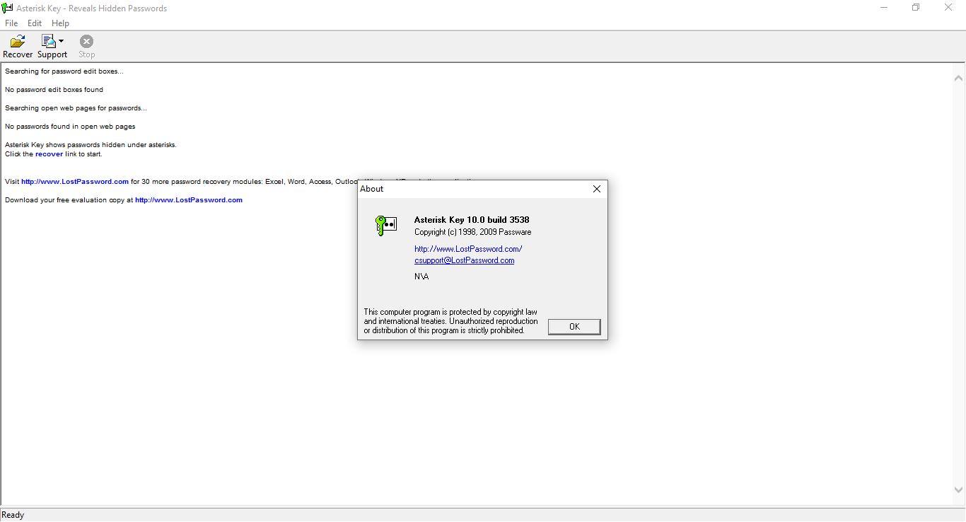Asterisk Key Şifre Çözücü indir