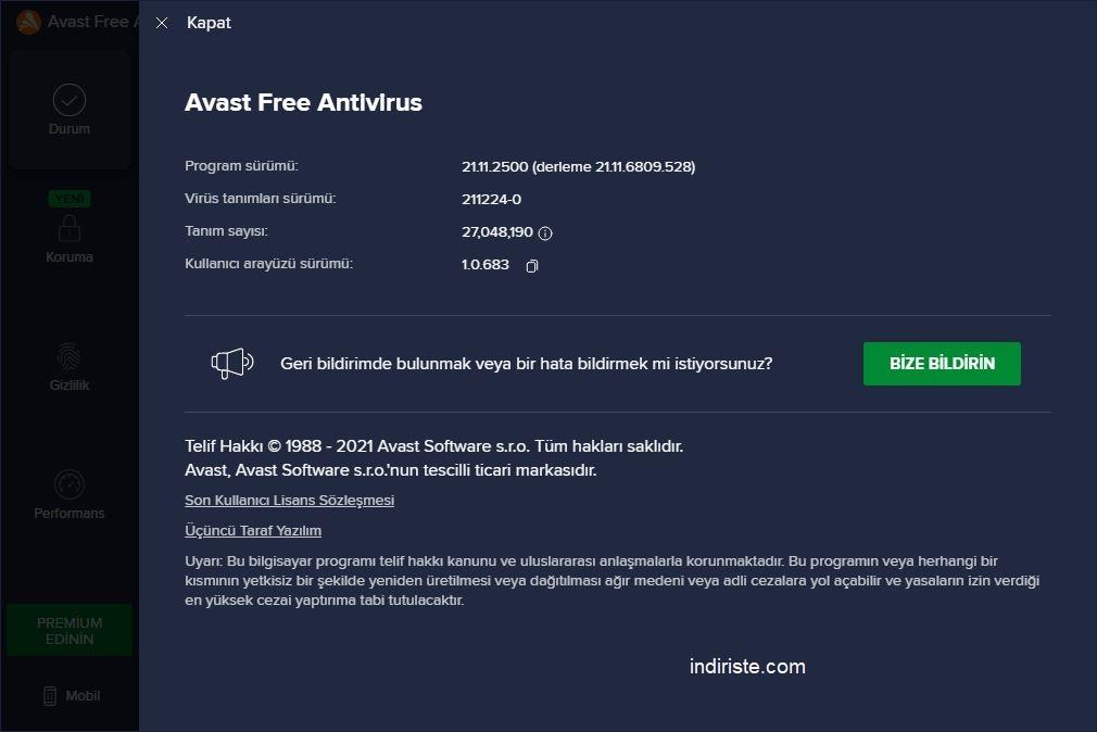 Avast Free Antivirus indir