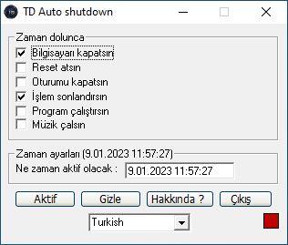 TD Auto shutdown indir